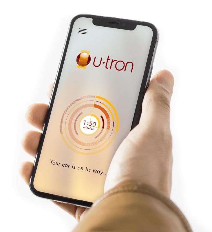 U-tron App-Based Parking Interface