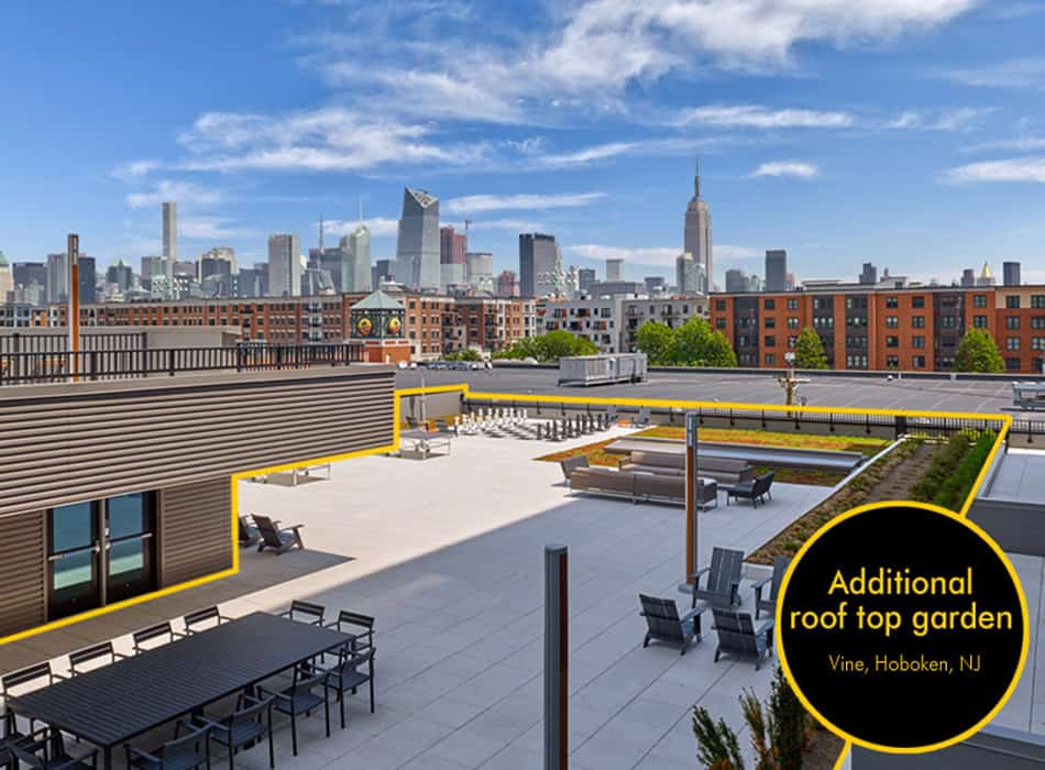 additional rooftop space for apartment