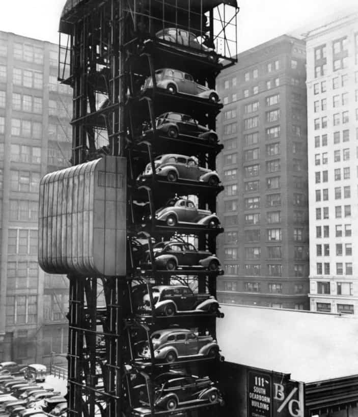 Historical pictures of Mechanical parking. Thoise were not Automated systems.