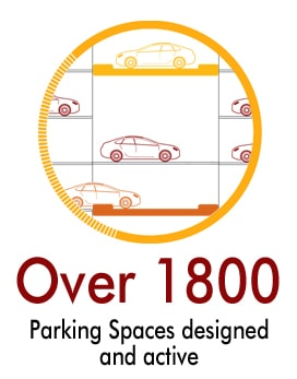 U-tron number of praking spaces - available in 2019