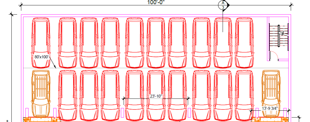 U-tron Shuttle-based automated parking - Vehicles squeezed side by side and deep in the most efficient arrangement