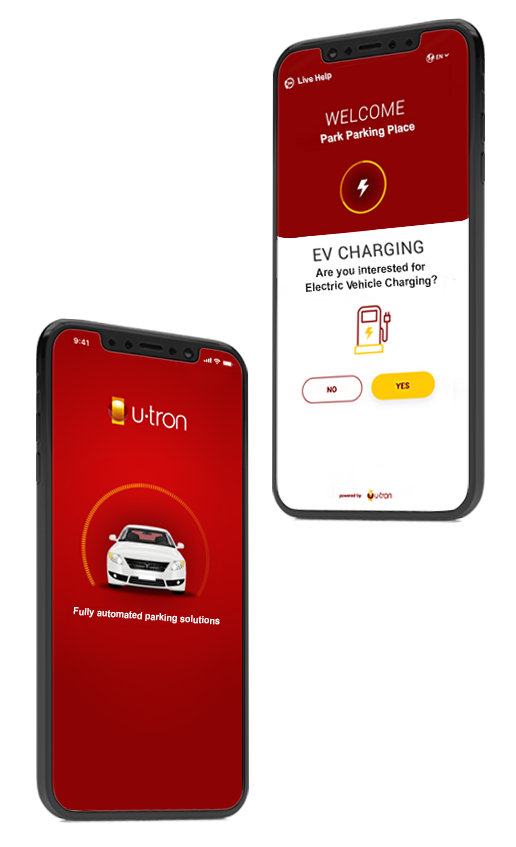 U-tron automated parking app special features